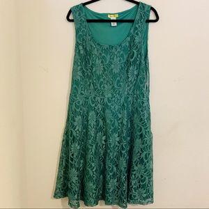 Green Lace Tank Dress Modcloth Plus Sixe 2x